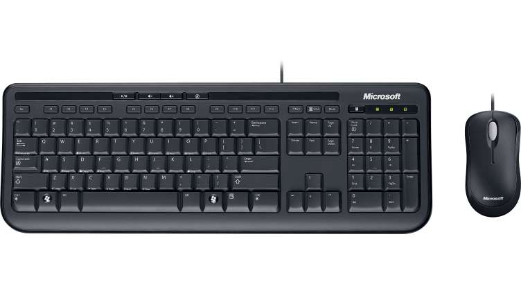 Microsoft Desktop 600 Keyboard & Mouse, USB, Black