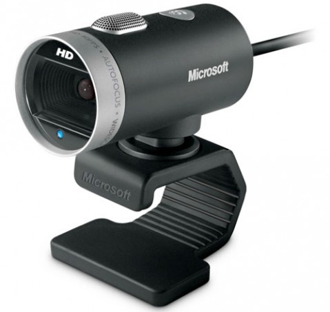 Microsoft LifeCam Cinema, 5.0 Megapixels, 4.0X Digital Zoom, USB 2, Black