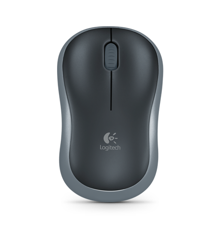 Logitech M185, Optical (LED) Mouse, Cordless, Grey